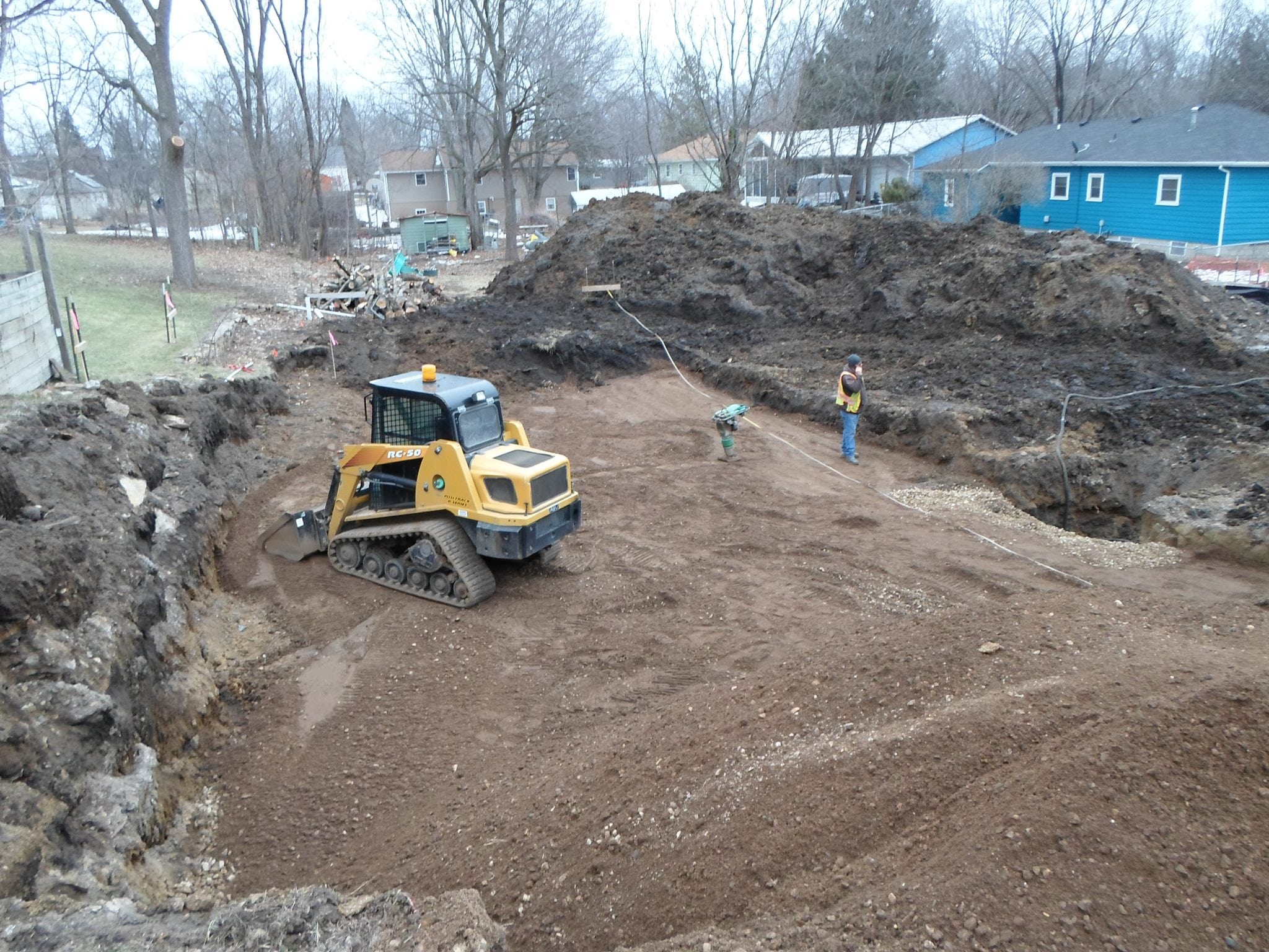 New home foundation northfield construction company for New home foundation