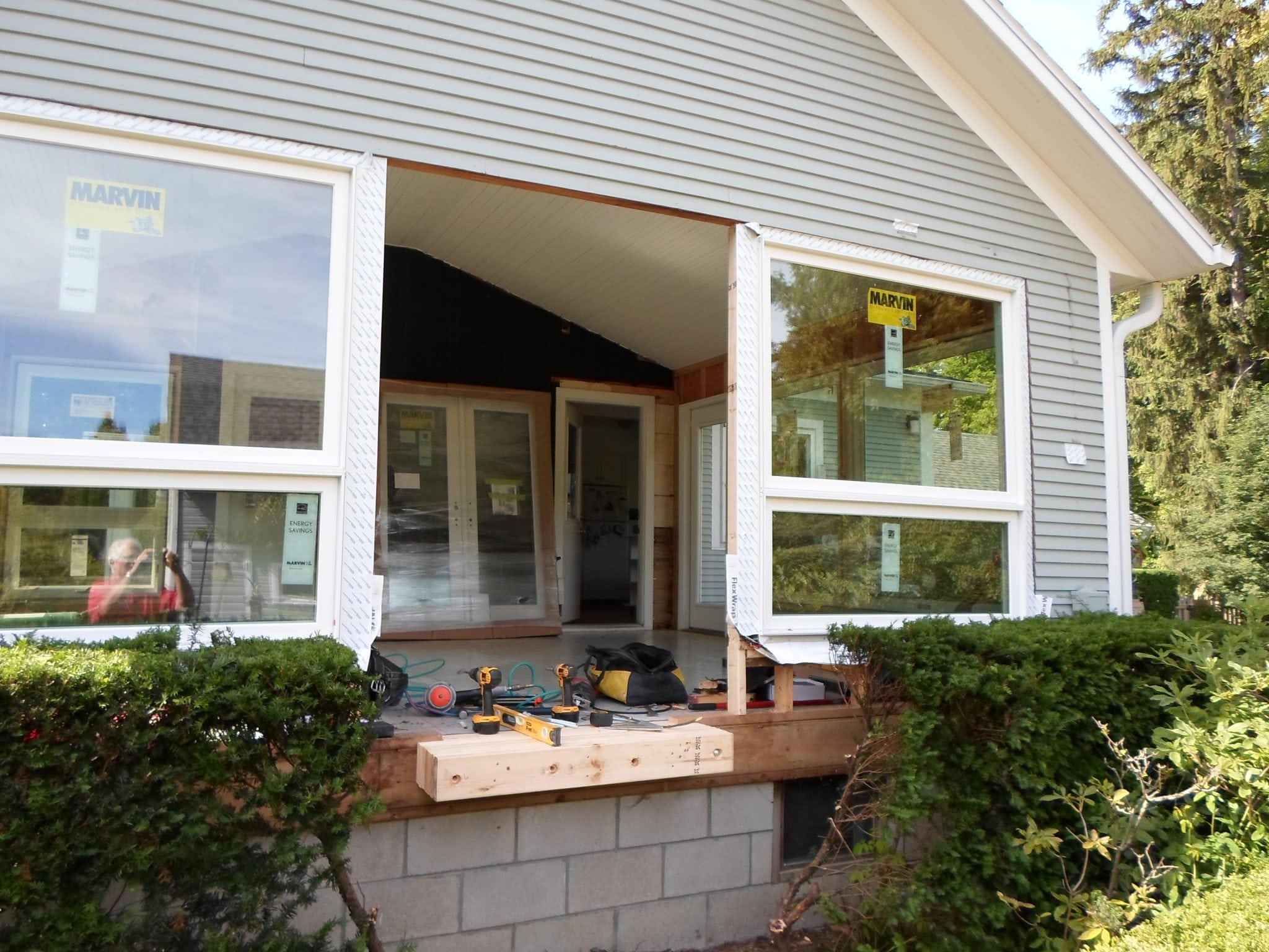 West Side Porch Conversion Northfield Construction Company